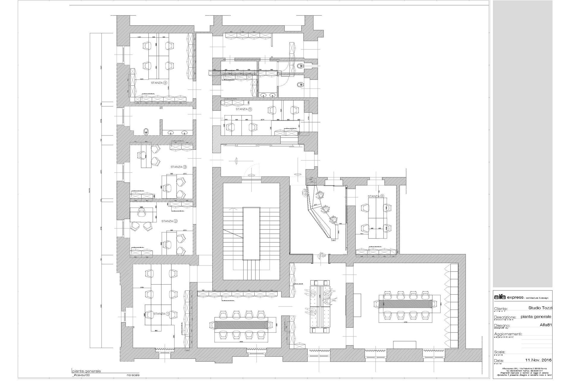 Rome private office - general plan